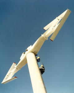 An early wind turbine was tested in Carmarthen Bay, Wales